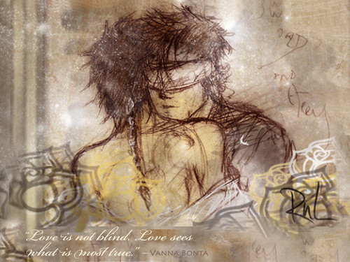 """""""Love sees"""" Citazioni wallpaper"""