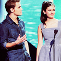 → Paul and Nina in TCA 2011 - paul-wesley-and-nina-dobrev photo