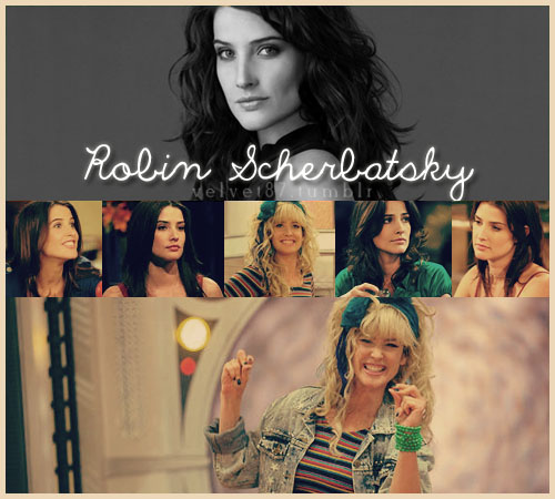 Robin Scherbatsky wallpaper probably with a portrait titled ♥ Robin ♥