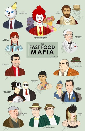 "DarkCruz360 wallpaper titled ""The Fast Food Mafia"""