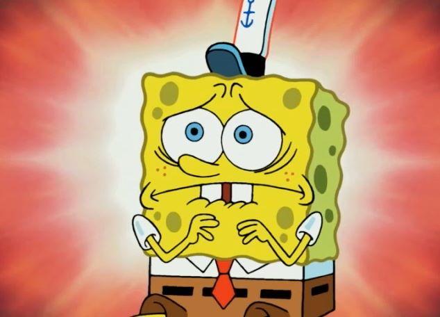 Spongebob scared face