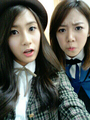 120428 A PINK Hayoung and Namjoo's Selca in Uniform