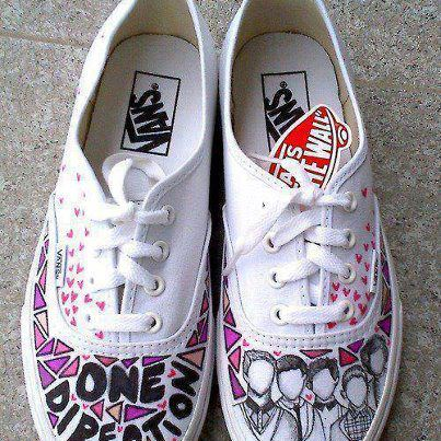One Direction fond d'écran containing a running shoe titled 1D vans