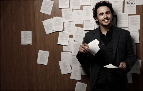 James Franco wallpaper with a packing box, a paper towel, and a business suit titled 2010 Photoshoot