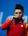 69kg Silver medalist weightlifter Roxana Daniela Cocoş of Romania - the-olympics photo