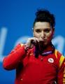 69kg Silver medalist weightlifter Roxana Daniela Cocoş of Romania