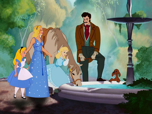 disney crossover achtergrond titled A happy family