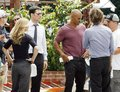 AJ, Thomas, Shemar & Matthew on the set - shemar-moore photo