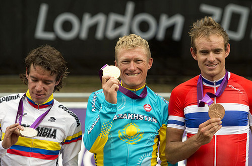 Alexandr Vinokourov winner of olympic cycling gold