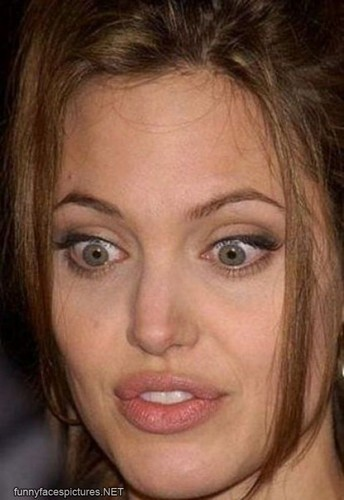 Angelina's funny face