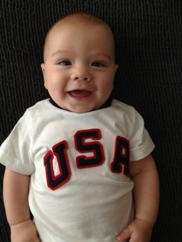 """As tweeted door Jared- """"Thomas shows his Olympic pride"""""""