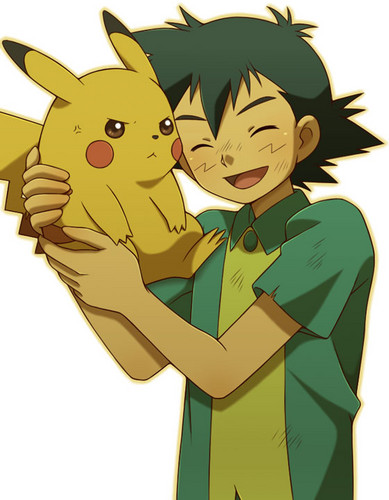 Pokémon wallpaper titled Ash and Pikachu