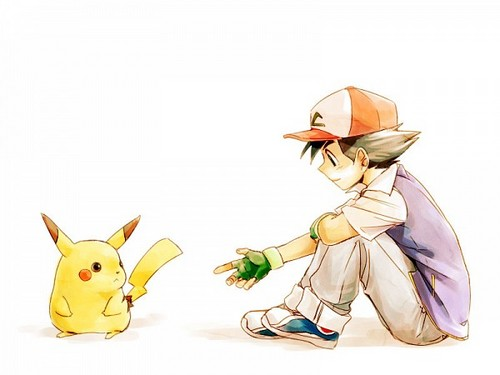 pokémon fondo de pantalla called Ash and pikachu