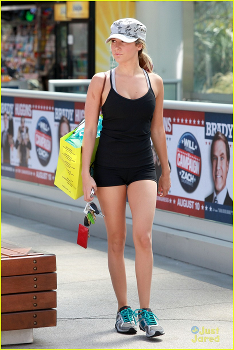 Ashley - Arriving at the Equinox Gym in West Hollywood - August 01, 2012