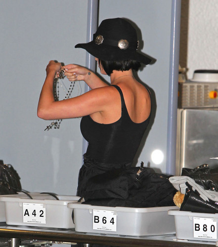 At An Airport In Miami [28 July 2012]