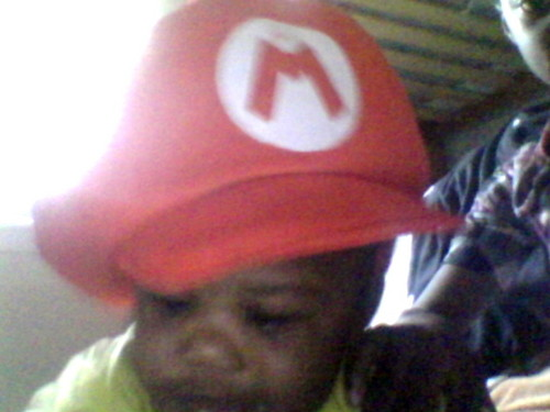 Baby Mario [my brother mason again]