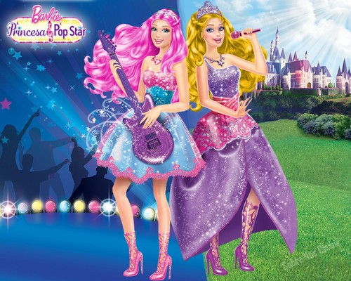 Barbie the Princess and the Popstar karatasi la kupamba ukuta