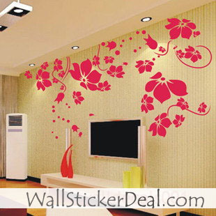 Beautiful Flower Wall Sticker - Home Decorating Photo ...