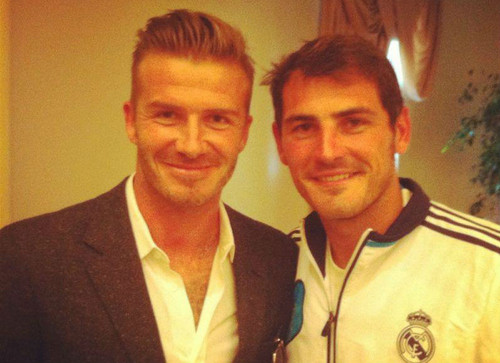 Beckham and Casillas - david-beckham Photo