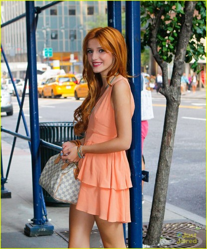 Shake It Up wallpaper possibly with bare legs, hosiery, and a hip boot entitled Bella Thorne & Zendaya arrive at the WPIX studios, to promote Shake it up special, 2 august 2012