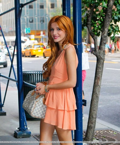 Bella Thorne in New York City on her way to WPIX studios , 2 august 2012