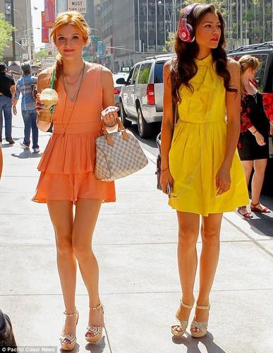 Bella Thorne in New York City on her way to WPIX studios , 2 august 2012