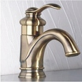Bronze One Handle Single Hole Mount Bathroom Sink Faucet