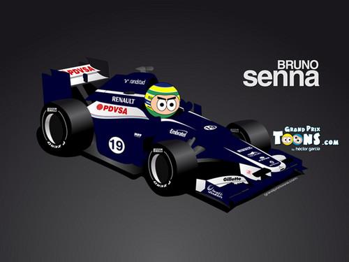 Bruno Senna Williams Cartoon