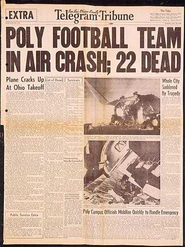 Cal Poly San Luis Obispo football team died sixteen players in plane ...
