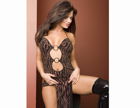 Candice Michelle پیپر وال possibly containing a bustier, a chemise, and a کاک, کاکٹیل dress entitled Candice Michelle Photoshoot Flashback