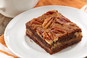 焦糖 胡桃, 山核桃 Brownies