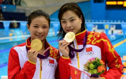 China wins women's 3-meter synchro diving in London