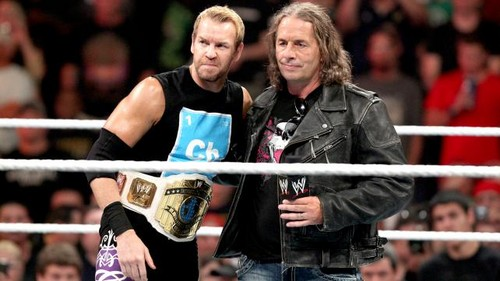 Christian vs The Miz (Bret Hart as ring announcer)