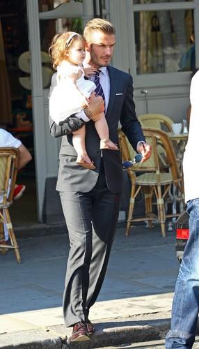 David and Harper Seven Beckham
