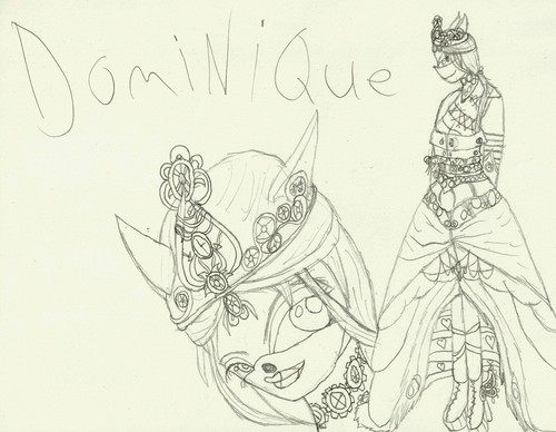 Dominique *Request. uncolored* - sonic-fan-characters Fan Art