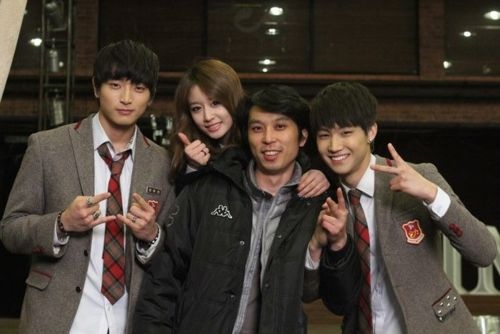 Dream High 2 wallpaper with a business suit titled Dream high 2 Behind the scene