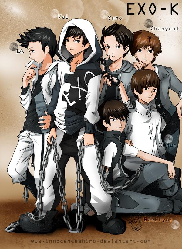 Exo K Wallpaper Containing Anime Entitled Exo K