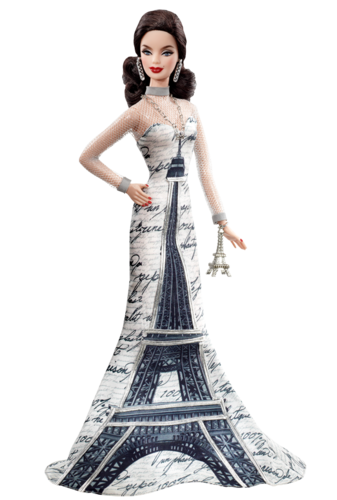 Barbie: Dolls Collection wallpaper entitled Eiffel Tower Barbie® Doll 2010