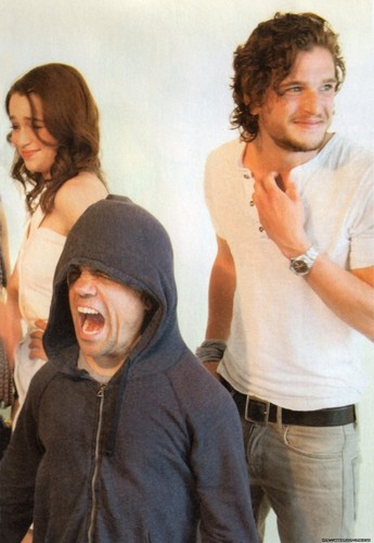 Emilia Clarke, Peter Dinklage & Kit Harrington - game-of-thrones Photo