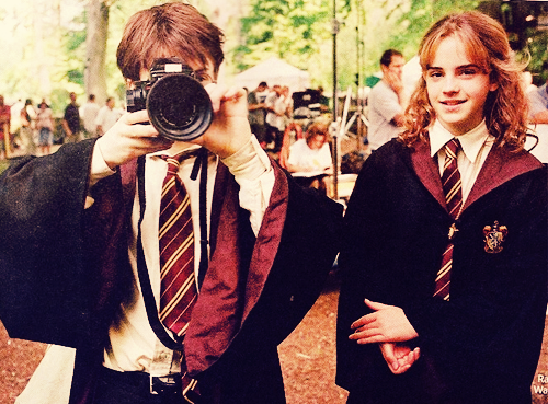 Harry and Hermione wallpaper possibly with a business suit entitled Emma Watson and Daniel Radcliffe