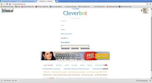 Fail....on cleverbot