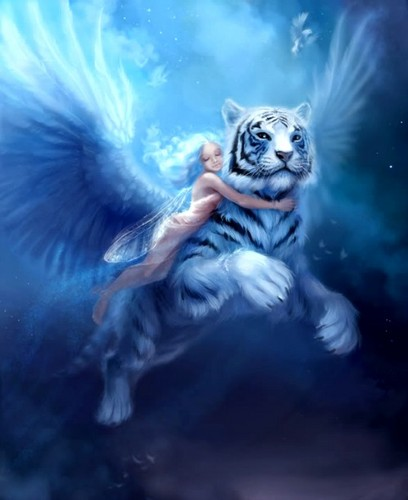 Fantasy wallpaper with a tiger cub titled Fantasy