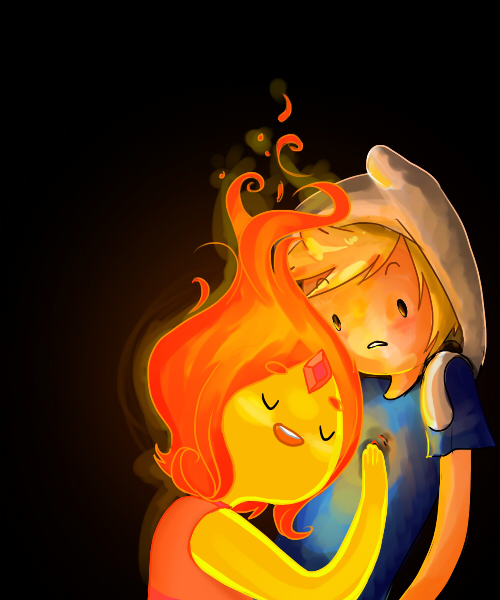 Finn and Flame princess - Adventure Time With Finn and ...