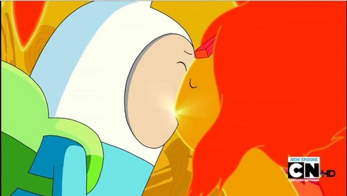 Finn and Flame Princess First Kiss - adventure-time-with-finn-and-jake Photo