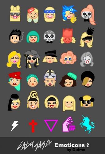 GaGa emoticons 2