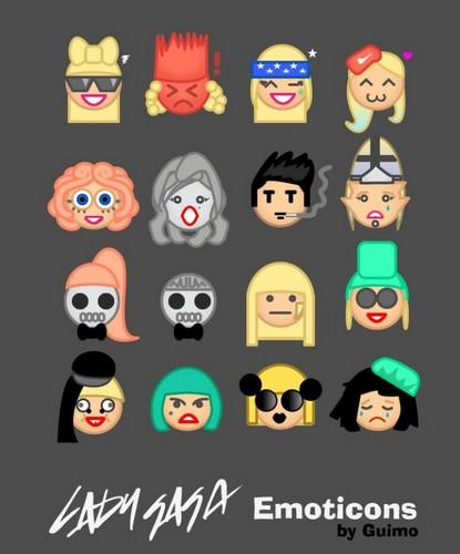 GaGa emoticons