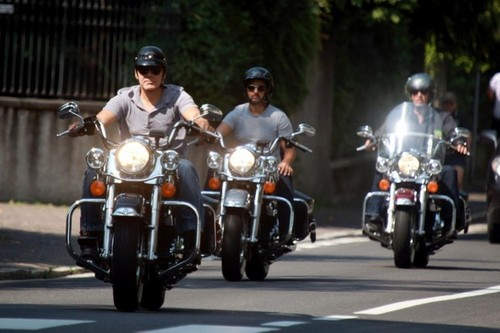 George Clooney Rides Around Lake Como [July 25, 2012] - george-clooney Photo