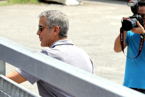 George Clooney Shoots a Commercial in Italy [July 30, 2012]