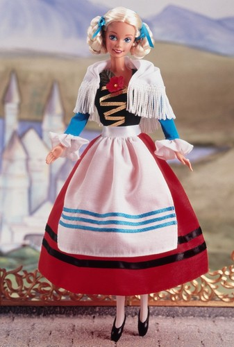 Barbie: Dolls Collection wallpaper possibly with a polonaise and a boater titled German Barbie® Doll 2nd Edition 1995