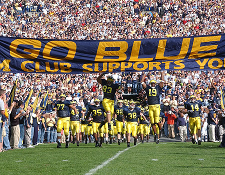 True Writers fondo de pantalla probably containing a cycling, a bicycling, and a football titled Go Michigan Wolverines